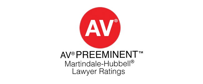 AV AV PREEMINENT Martindale-Hubbell Lawyer Ratings